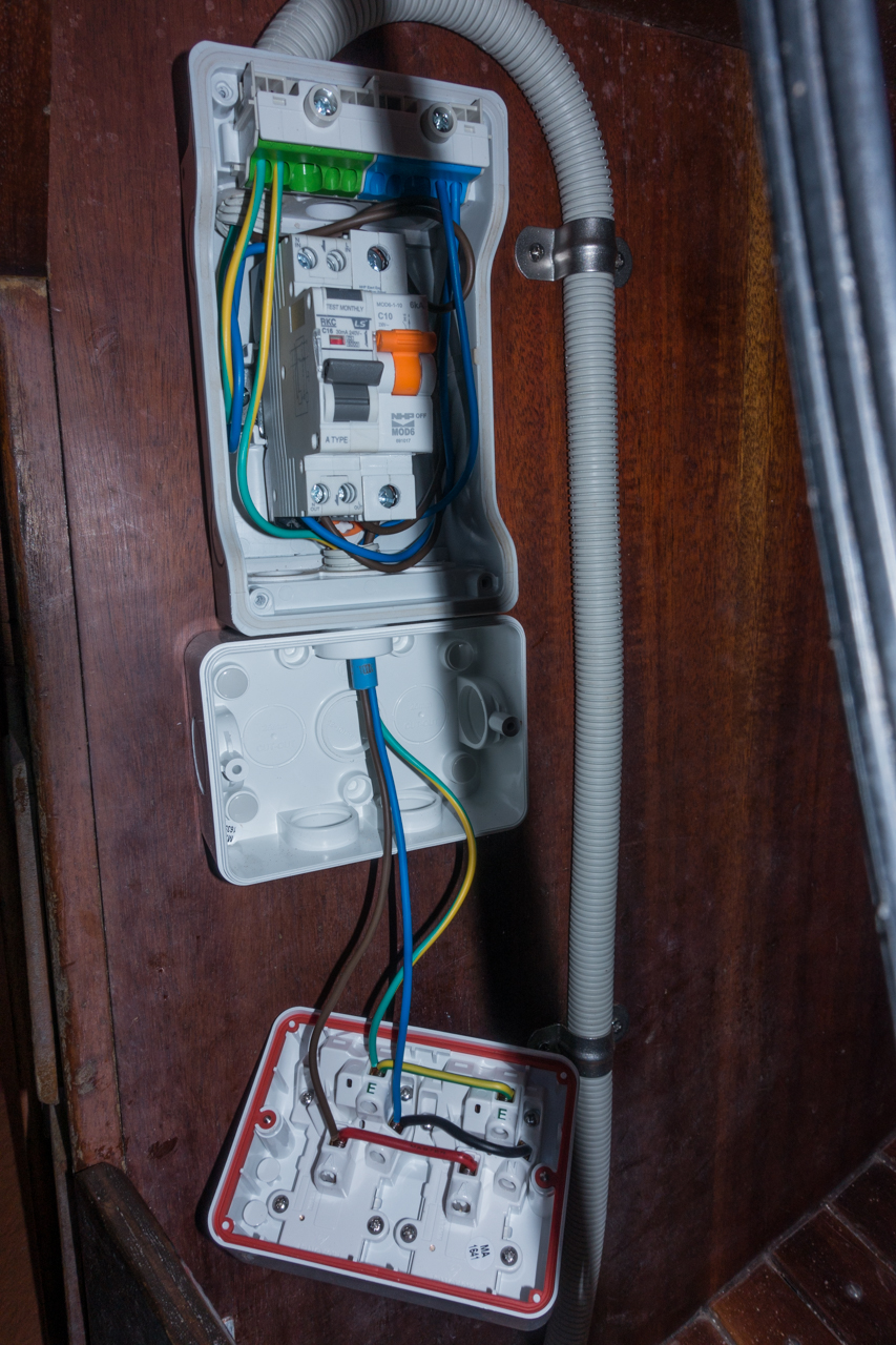 Beruta Electrical System Wiring New Zealand Plug Aka Gfci In America And One 10 Amp Regular Single Pole 100 For A Moisture Protected Dual Outlet Receptacle 150